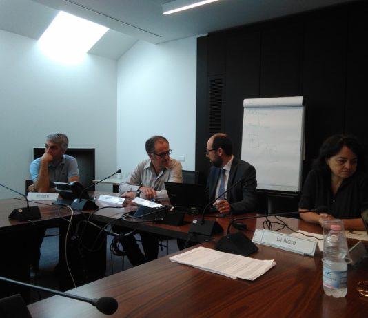 Andrea Roscetti (Politecnico di Milano, Progetto ProCold), Fabio Gargantini (CECED Italia), Marco Imparato (CECED Italia) e Maria Giulia Di Noia (Camera di commercio di Milano)