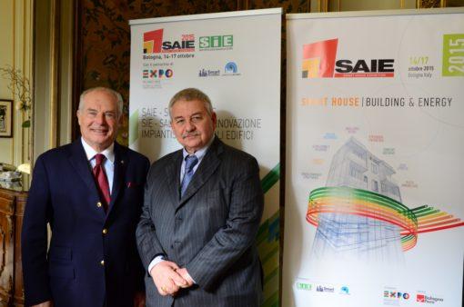 Giuseppe Nardella, presidente del Gruppo Tecniche Nuove e Duccio Campagnoli, presidente di BolognaFiere