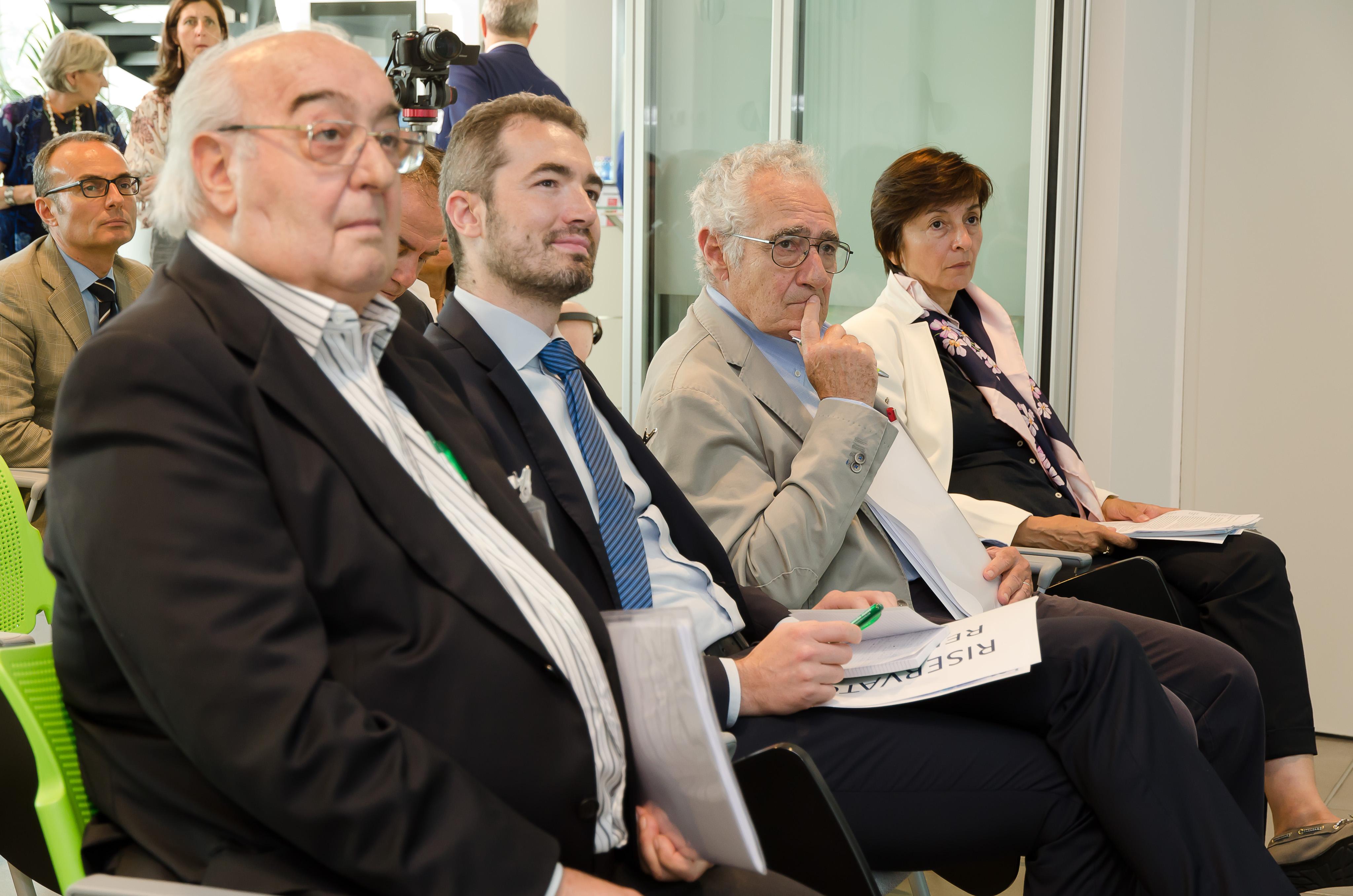 I relatori del convegno: Giovanni De Giovanni, Luca Tarantolo, Antonio Montanari e Ernestina Casiraghi